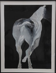 Horse II - 122x156cm (framed), oil on Fabriano paper